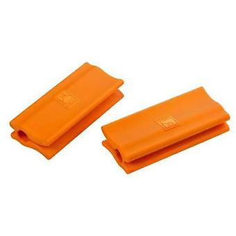 Bra Orange silicone handles  Efficient  (2 units) 20 cm