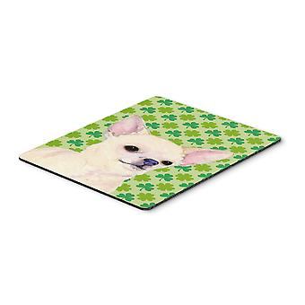 Chihuahua St. Patrick's Day Shamrock Portrait Mouse Pad, Hot Pad or Trivet