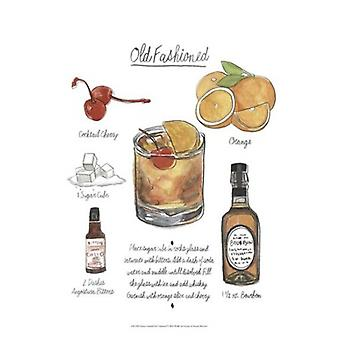 Classic Cocktail - Old Fashioned Poster Print by Naomi McCavitt (13 x 19)