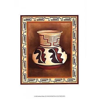 Southwest Pottery III Poster Print by Chariklia Zarris (10 x 13)