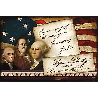 Founding Fathers Poster Print by Mollie B (18 x 12)