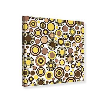 Canvas Print Circles Retro Design
