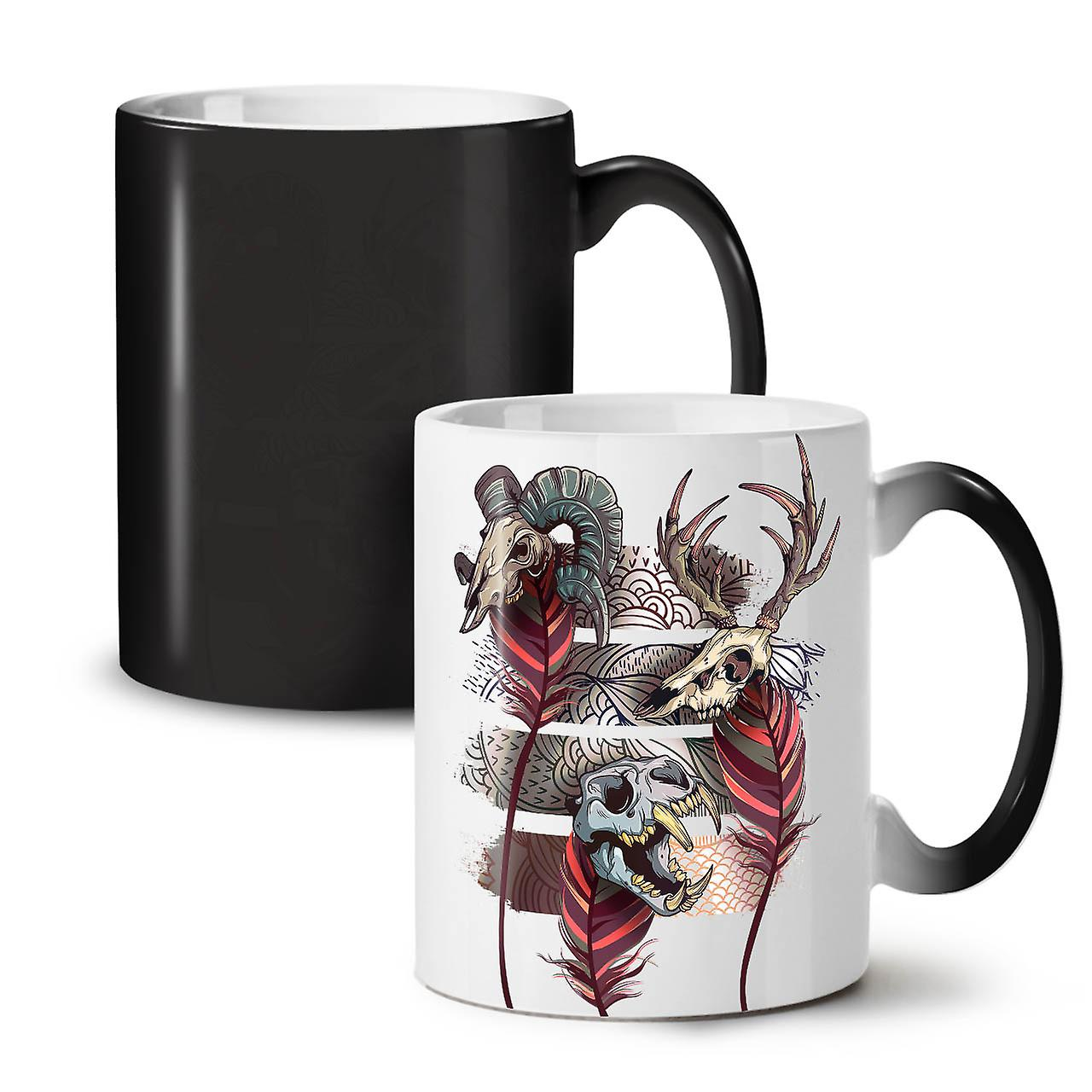 OzWellcoda Céramique Thé 11 Coloris Mort Changeant Tasse Café Animal Nouveau Noir Bête WEDHIbYe29