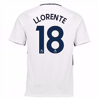 2017-18 Tottenham hem skjorta (Llorente 18) - barn
