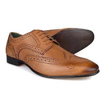 Sølv Street London Portman Tan skinn Brogues