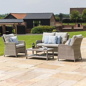 Maze Rattan Oxford Square High Back Garden Sofa Set