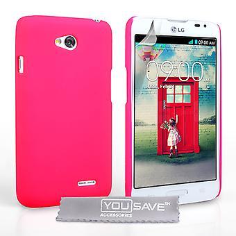 Yousave аксессуары LG L90 гибридный жесткий дело - ярко-розовый