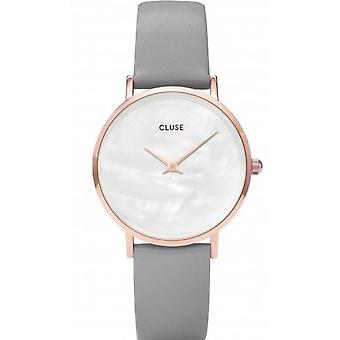 Watch Cluse watches CL30049 - watch midnight Pearl Golden Rose White / grey woman