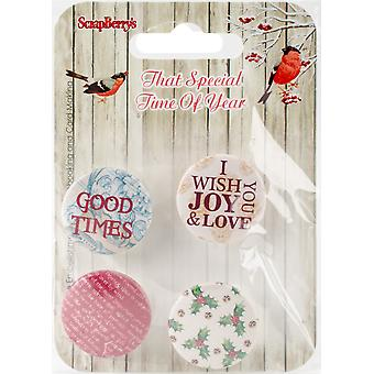 ScrapBerry's That Special Time Of Year Embellishments 4/Pkg-No.2-1 SCB1014