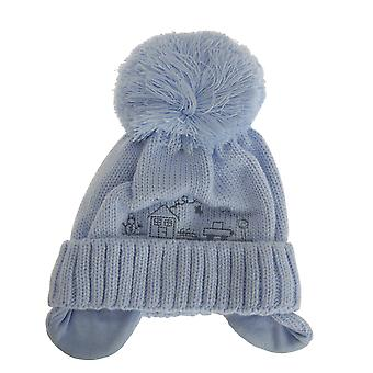 Baby Boys Winter Bobble Hat