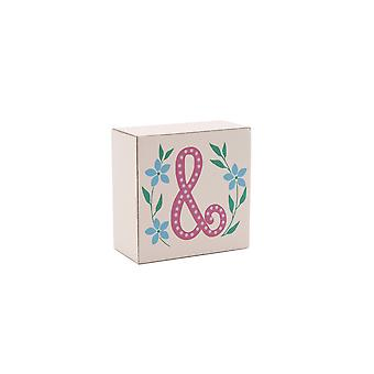 CGB Giftware Birds And Botanics Alphabet Block