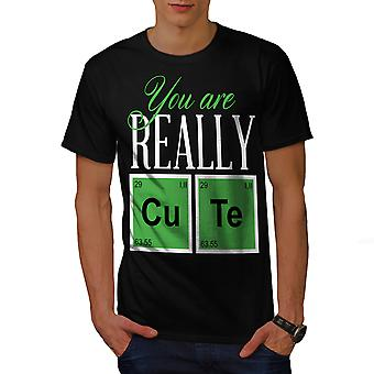 Cute Chemistry Geek Men BlackT-shirt | Wellcoda