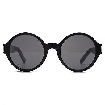 Saint Laurent SL 63 Sunglasses In Black Silver Mirror