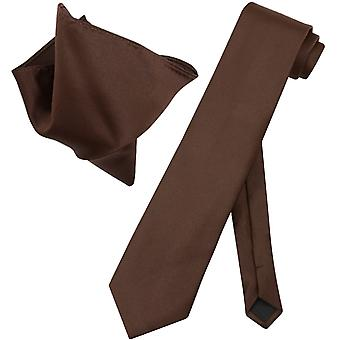 Vesuvio Napoli EXTRA LONG NeckTie Handkerchief Mens Neck Tie Set