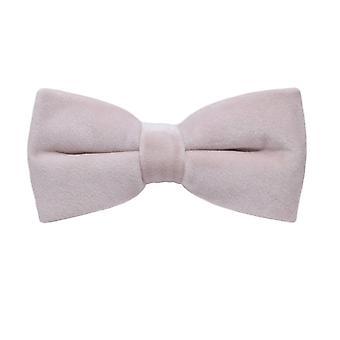 Corbata de lazo de terciopelo rosa luz oscura de lujo