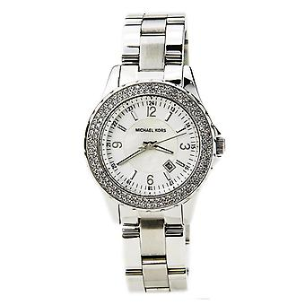 Michael Kors Womens Madison Wrist Watch White Face Silver Dial MK5401