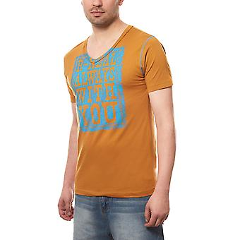 RUSTY NEAL T-Shirt statement shirt always men's Brown