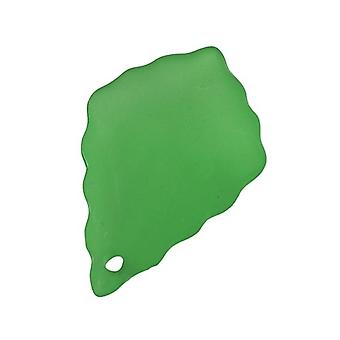 Packet 30 x Green Lucite 15 x 21mm Leaf Beads HA26530