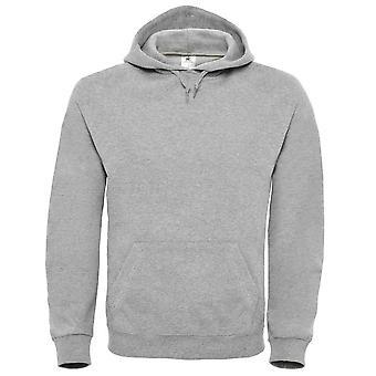B&C Mens Lined hooded sweatshirt with drawstring
