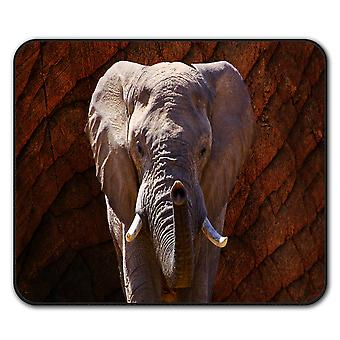 Elephant Safari Animal  Non-Slip Mouse Mat Pad 24cm x 20cm | Wellcoda