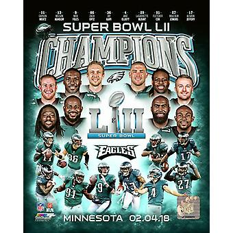 Philadelphia Eagles Super Bowl LII Champions Composite Photo Print