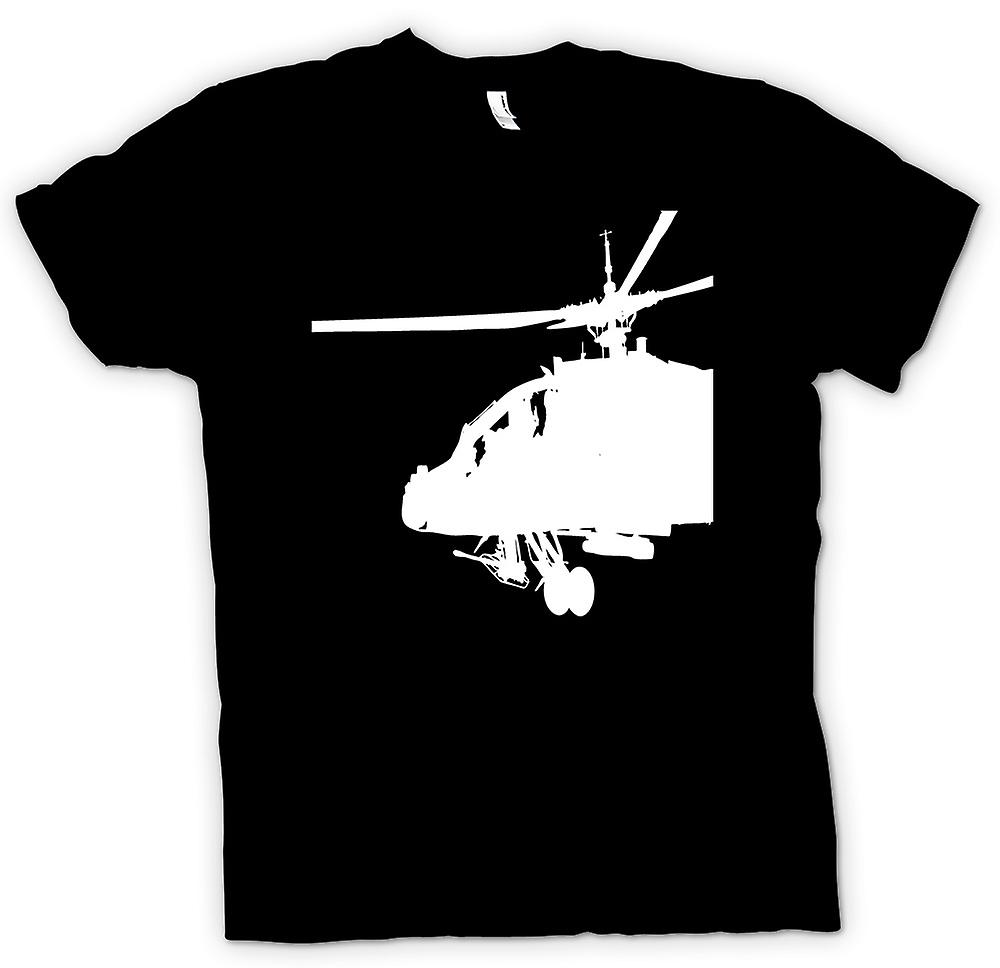 Mens T-shirt - Apache Cockpit Helicopter - War