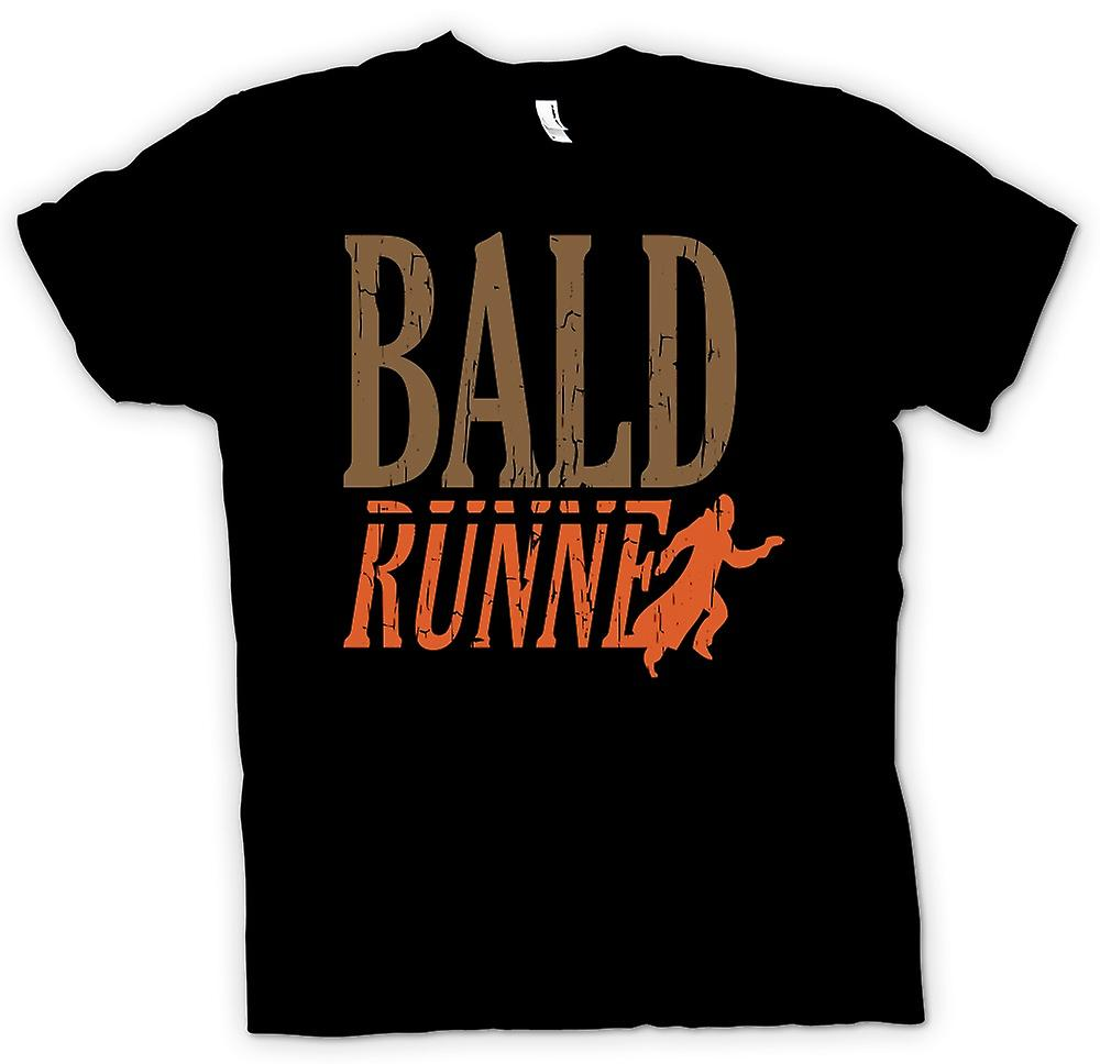 Mens T-shirt - Bald Runner - Funny