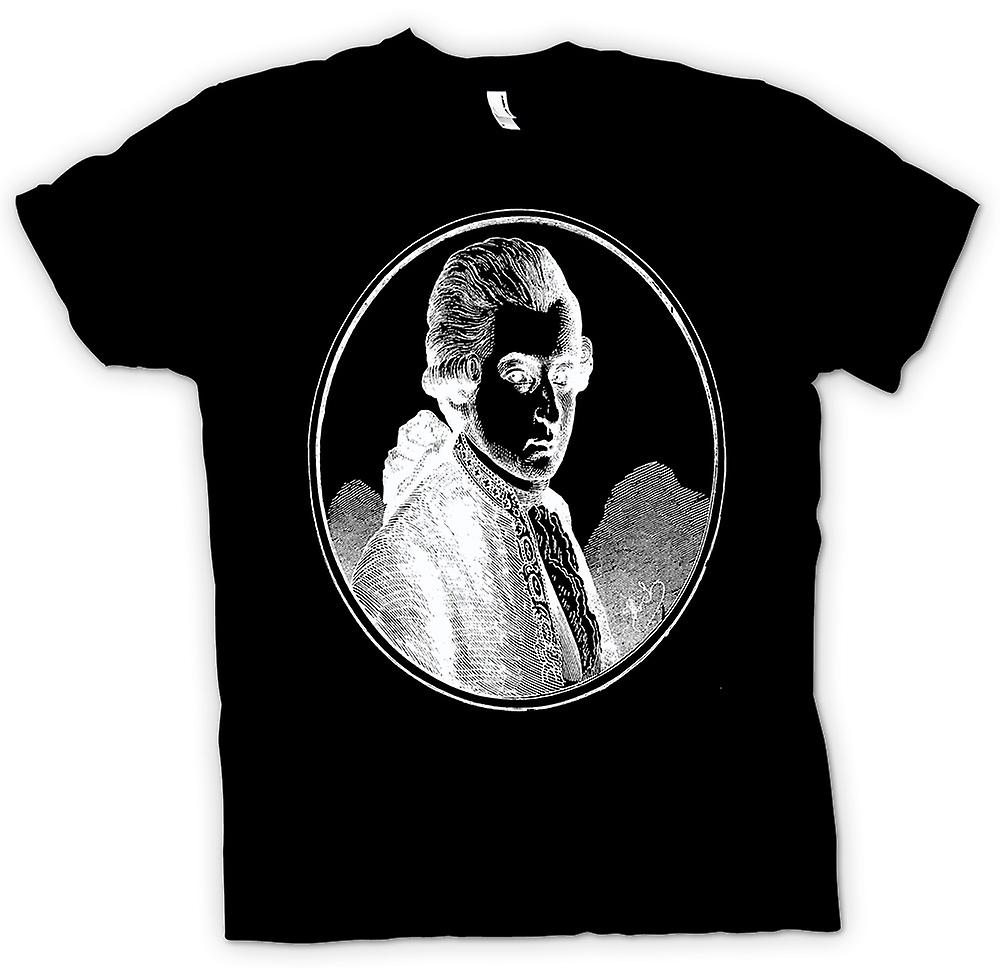 Mens t-skjorte-Wolfgang Amadeus Mozart