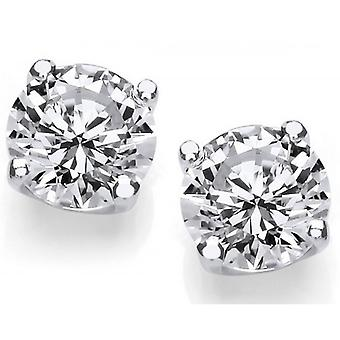 Cavendish French 1/4 Carat Cubic Zirconia Stud Earrings - Silver