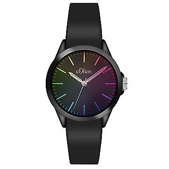 s.Oliver women's watch siliconen band horloge SO-3197-PQ