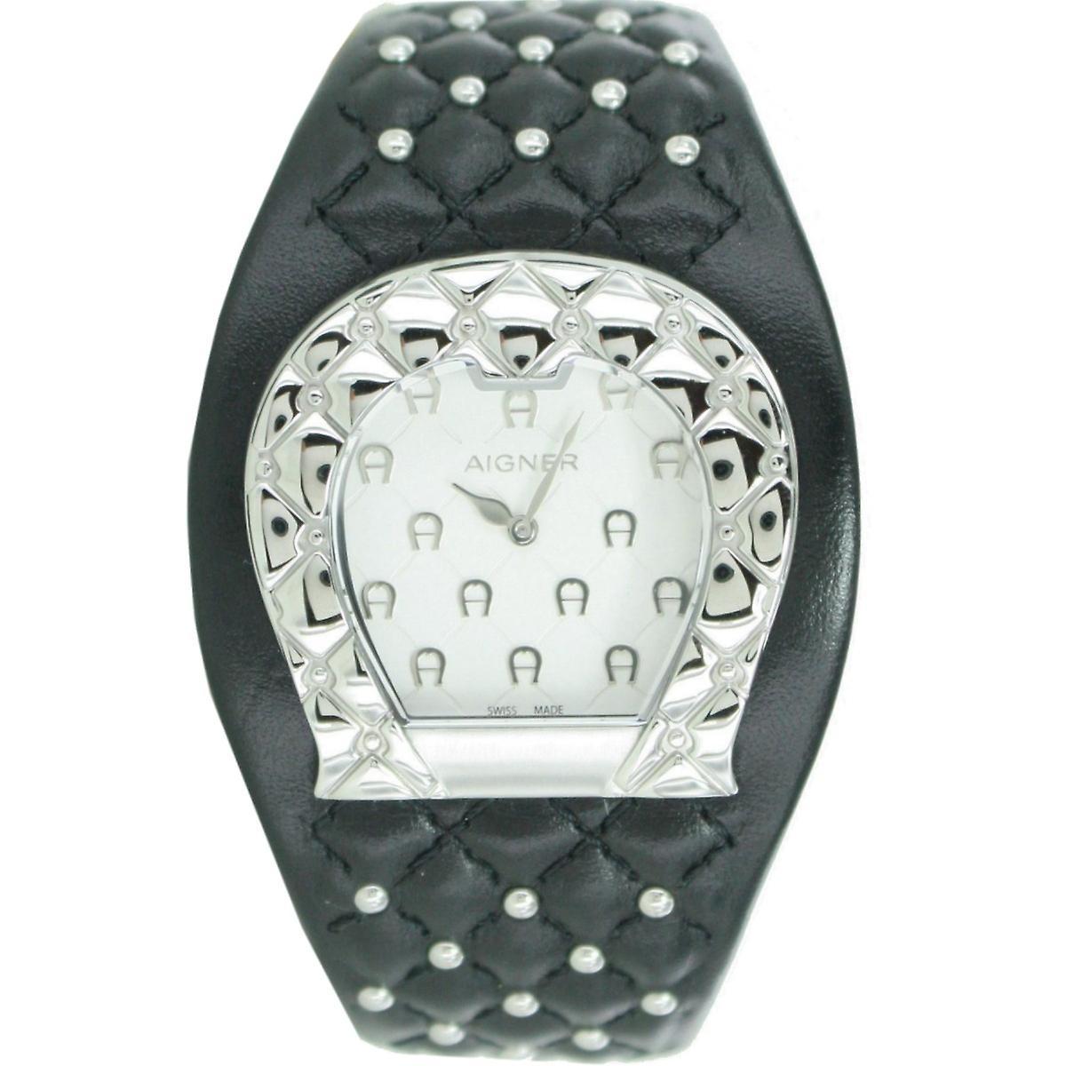 Aigner Damen Uhr Armbanduhr Lederband schwarz A41207