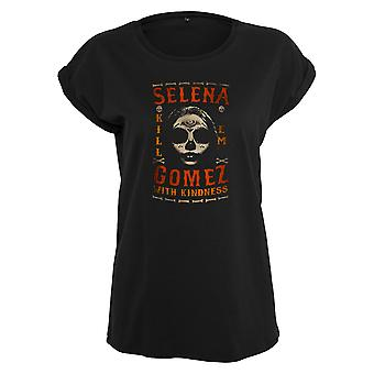 Urban classics ladies T-Shirt Selena Gomez kill em skull