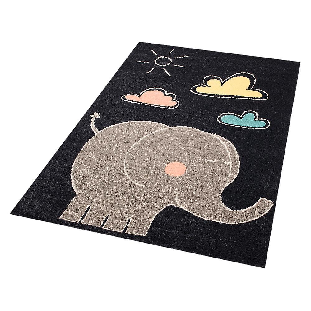 Enfants de tapisserie éléphant Jumbo tapis 120 x 170 cm. Pépinière de tapis