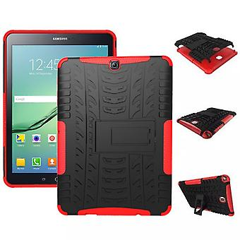 Hybrid Outdoor Schutzhülle Case Rot für Samsung Galaxy Tab S2 9.7 T810 T815N Tasche