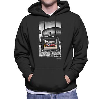 BMW Art Car Calder Black Frame Men's Hooded Sweatshirt