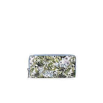 PINKO GREEN FLOWERS RONZIO LARGE WALLET