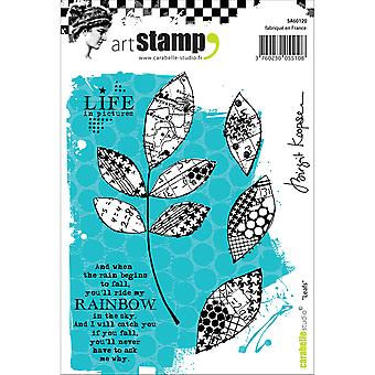 Carabelle Studio Cling Stamp A6-Leafs