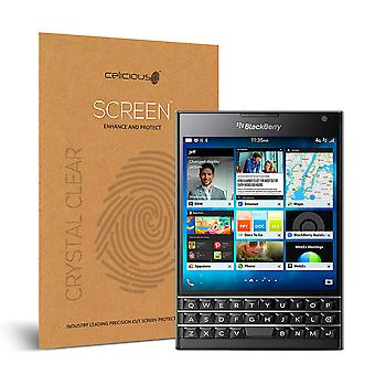 Celicious Vivid Invisible Glossy HD Screen Protector Film Compatible with Blackberry Passport [Pack of 2]