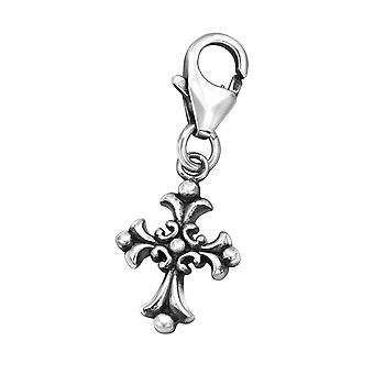 Gothic Cross - 925 Sterling Silver Charms with Lobster - W32105X