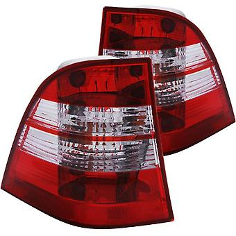 Anzo USA 221134 Mercedes-Benz ML Chrome Tail Light Assembly - (Sold in Pairs)