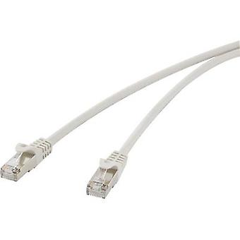 RJ45 Networks Cable CAT 5e F/UTP 15 m Grey incl. detent Renkforce