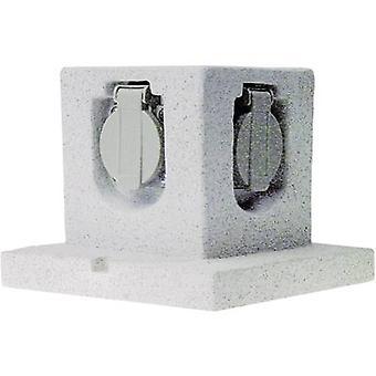 Smartwares GL40 Weatherproof socket strip 4 x Stone grey