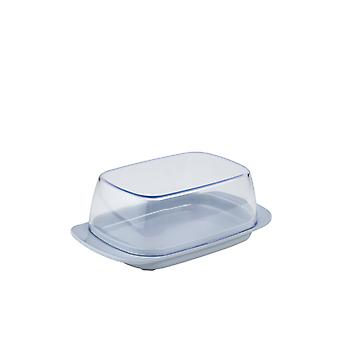 Rosti Mepal Plastic Butter Dish, Clear With Grey Base