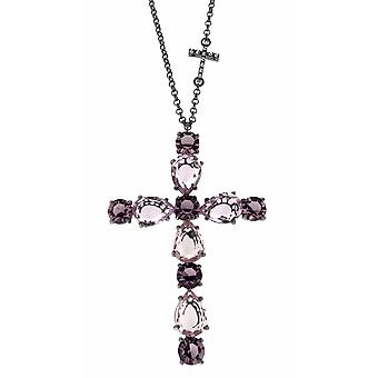 ZOPPINI Light Rose and Amethyst Cross