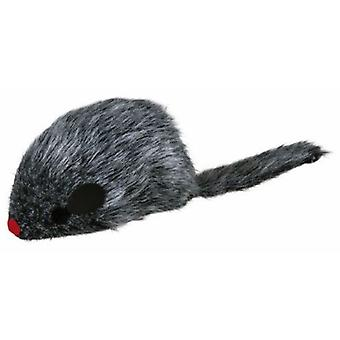 Trixie Lined Long Haired Mouse (Cats , Toys , Mice)
