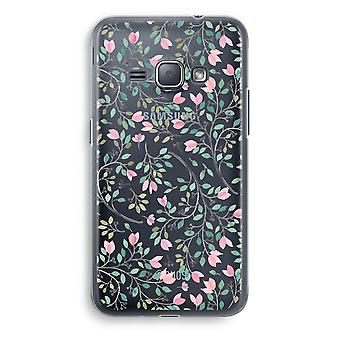 Samsung Galaxy J1 (2016) Transparent Case (Soft) - Dainty flowers