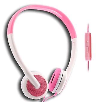 UMA - легкий 3,5 мм стерео наушники - белый / розовый