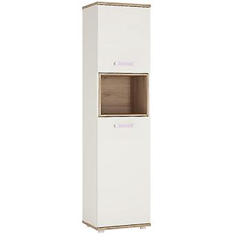Furniture To Go 4 Kids Tall White Double Door Display Cabinet