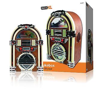 Basicxl BXL-JB10 Retro Jukebox med AM / FM-Radio og CD-spiller