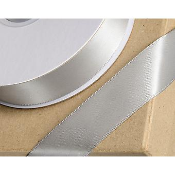 23mm Silver Satin Ribbon for Crafts - 25m   Ribbons & Bows for Crafts